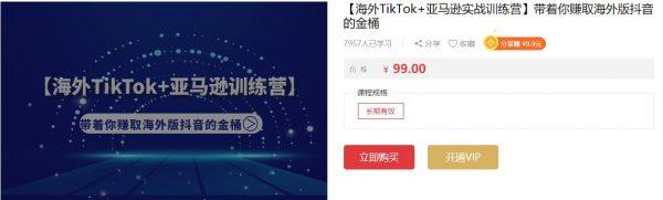 【海外TikTok+亚马逊实战训练营】带着你赚取海外版抖音的金桶