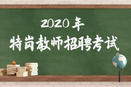 2020年特岗教师招聘考试