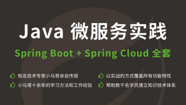 Java 微服务实践Spring Boot+Spring Cloud 全套