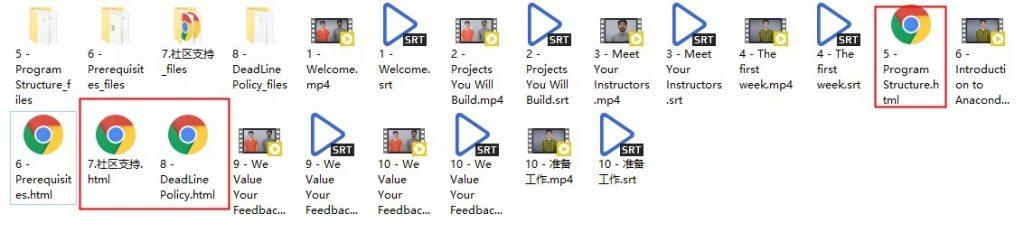 .Udacity的深度学习课程文件目录