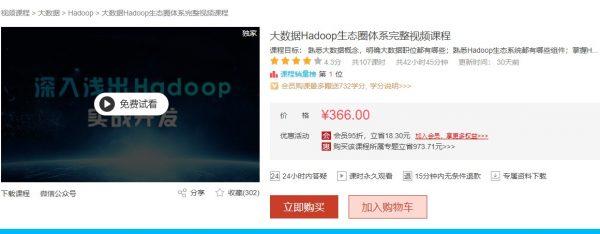 大数据Hadoop生态圈系统完好视频<a target=_blank href='http://www.yingzhiyuan.com/'>课程</a>
